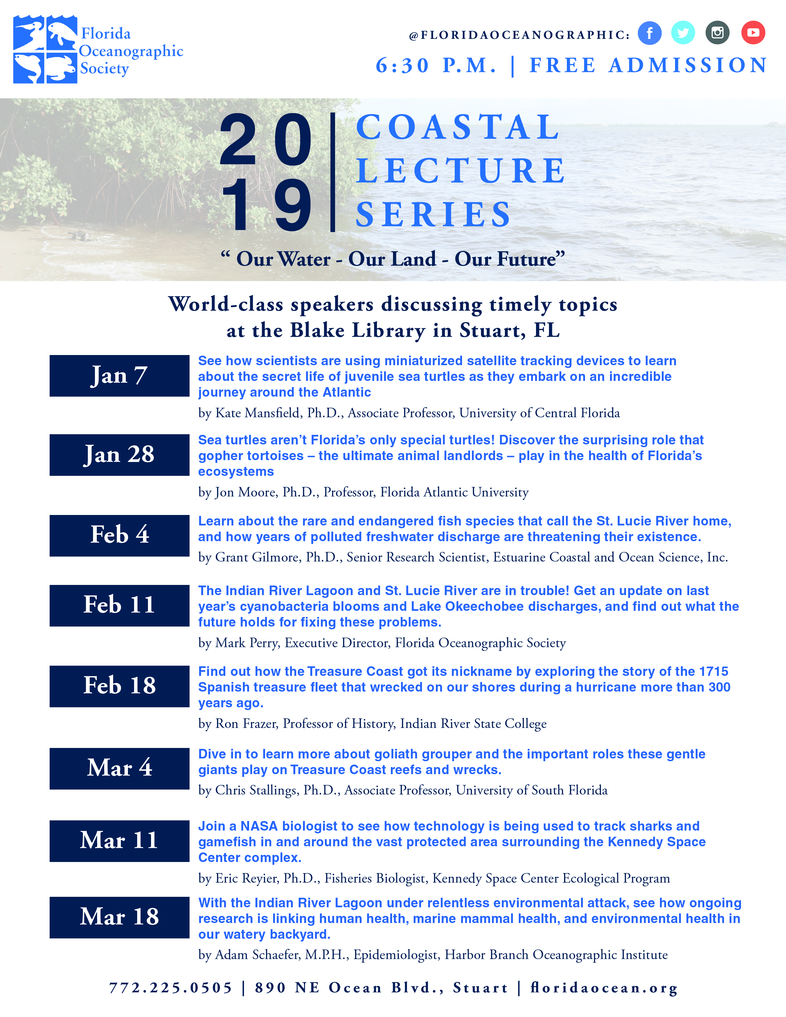 coastal lecture series flyer