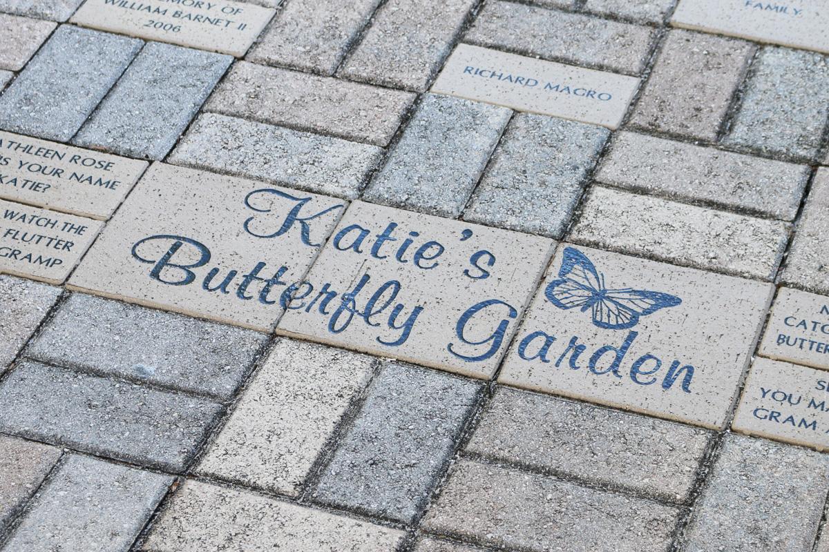 Brick paver inside butterfly garden