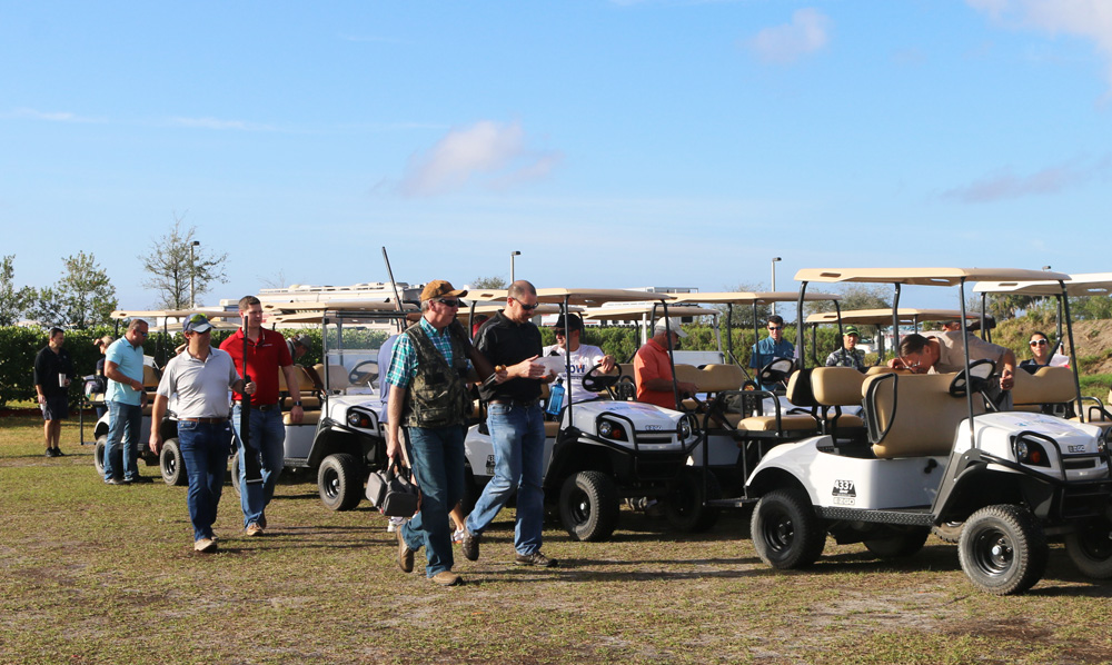 Participants from the Clay Shoot