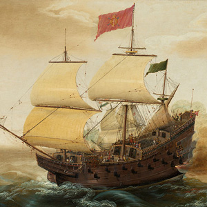 illustration of a spanish ship