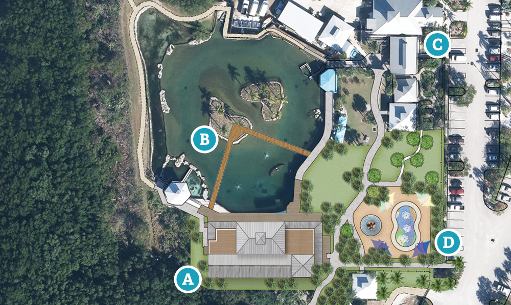 Site map of new coastal center grounds