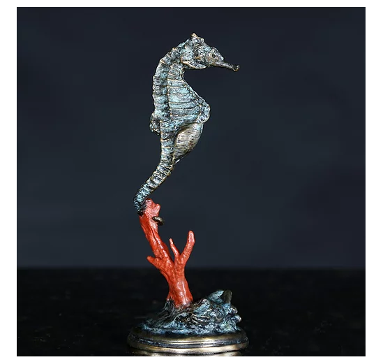 sea horse on coral